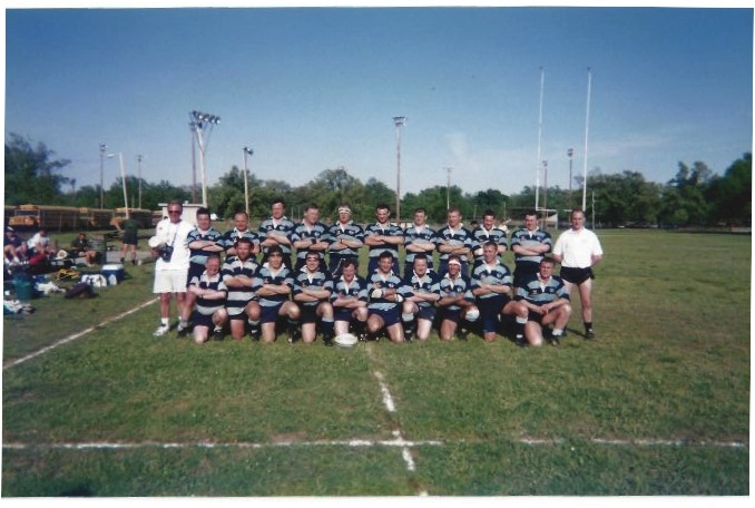 Bedfordshire Police rugby team featuring Richard and Matt Harpham at Memphis