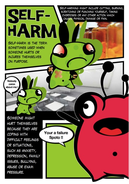 Comic Strip AIG cards covering important topics